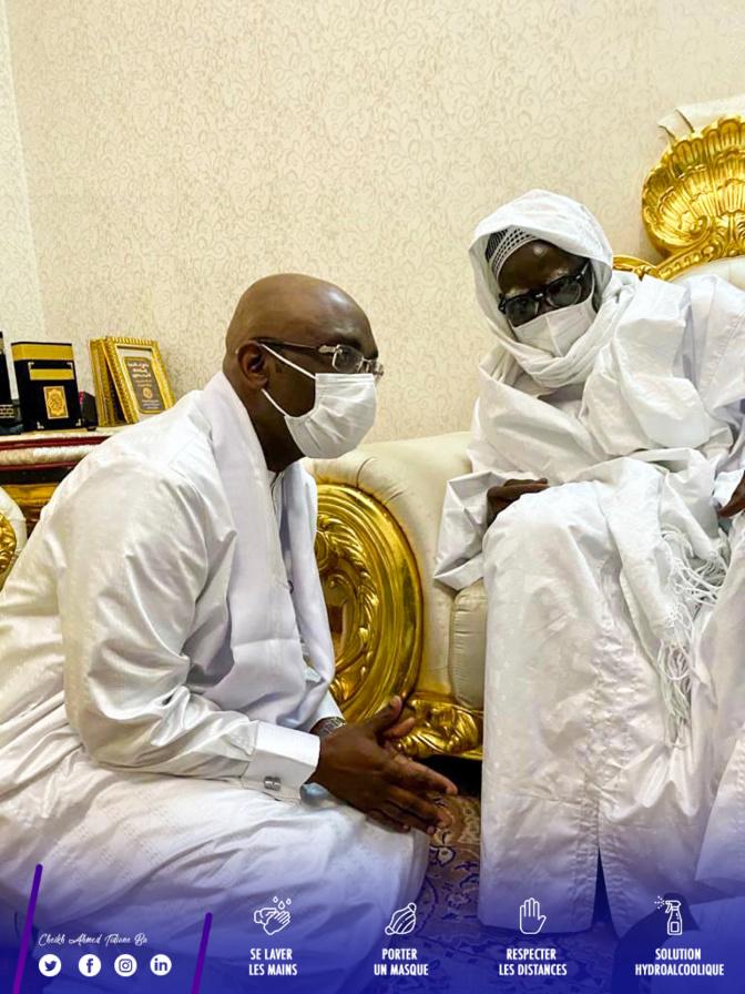 Veille de Magal de Touba 2020 : Cheikh Ahmed Tidiane Ba, le DG de la CDC,  en visite chez le khalife et d'autres guides religieux