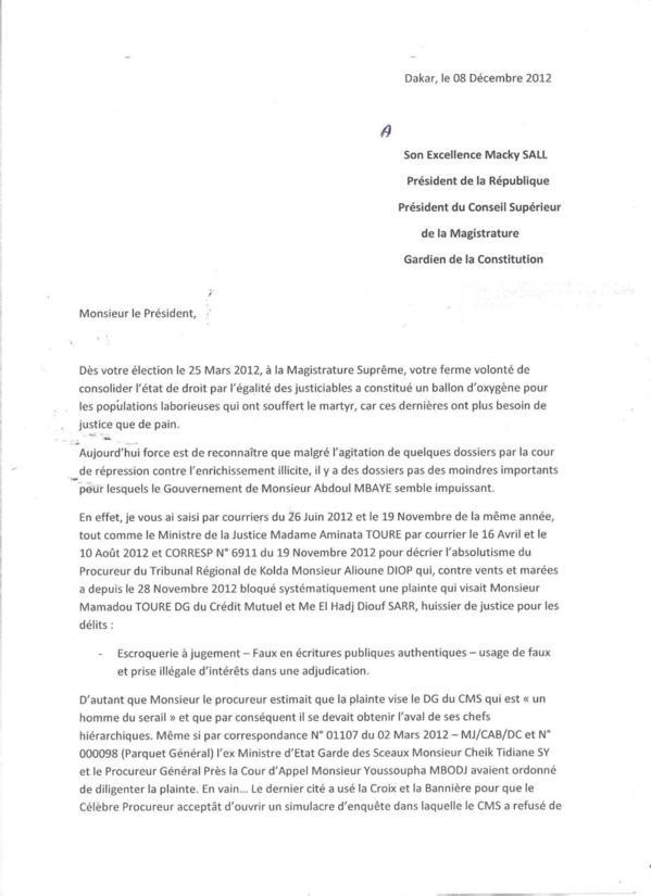 [Documents exclusifs] Escroquerie et faux et usage de faux: Le Dg du Cms, Mamadou Touré est-il intouchable ?
