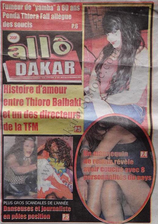 A la Une du Journal Allo Dakar du lundi 17 Décembre 2012