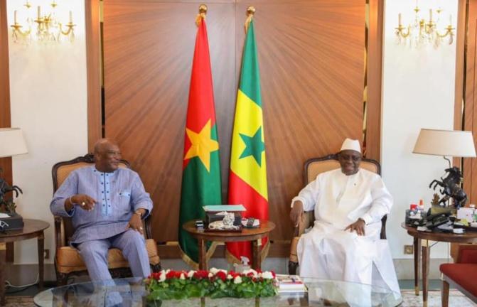 Le Président Rock Marc Christian Kaboré du Burkina Faso, au Sénégal depuis hier