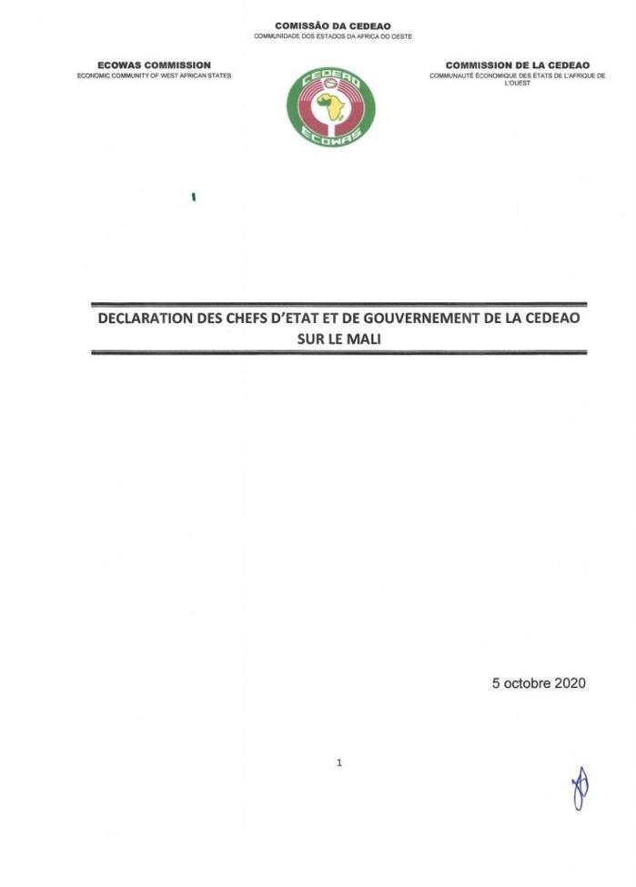 La CEDEAO lève les sanctions contre le Mali