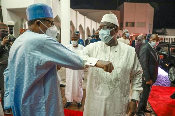 Visite de travail et d'amitié au Nigeria : les premières images de la rencontre entre Macky Sall, Muhammadu Buhari et Oumaro Sissoco Embalo