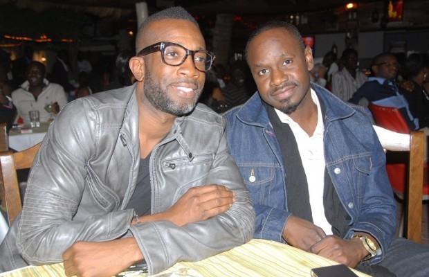 Baba Hamdy et Bouba Ndour à la soirée de Pape Diouf