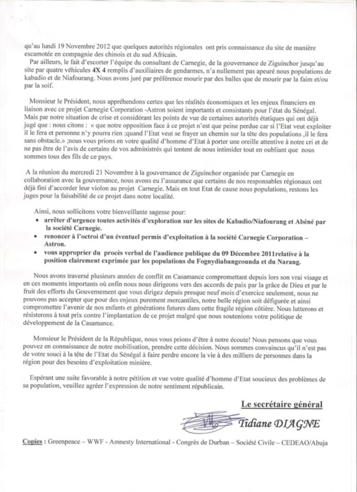 [Exclusivité Leral.net] Casamance : De gros bonnets de la République au cœur d'un scandale minier