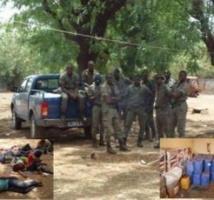 Kédougou. Opération 'diouratigui' : des armes et 24 kg de chanvre indien saisis par les gendarmes.