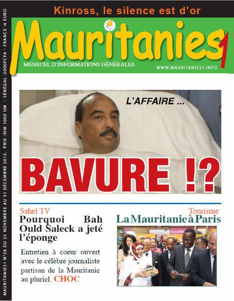 A la Une du Journal Mauritanies1 du lundi 24 Décembre 2012