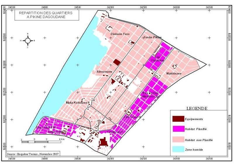 Cause départ, à vendre un terrain de 176m2 à Pikine Dagoudane