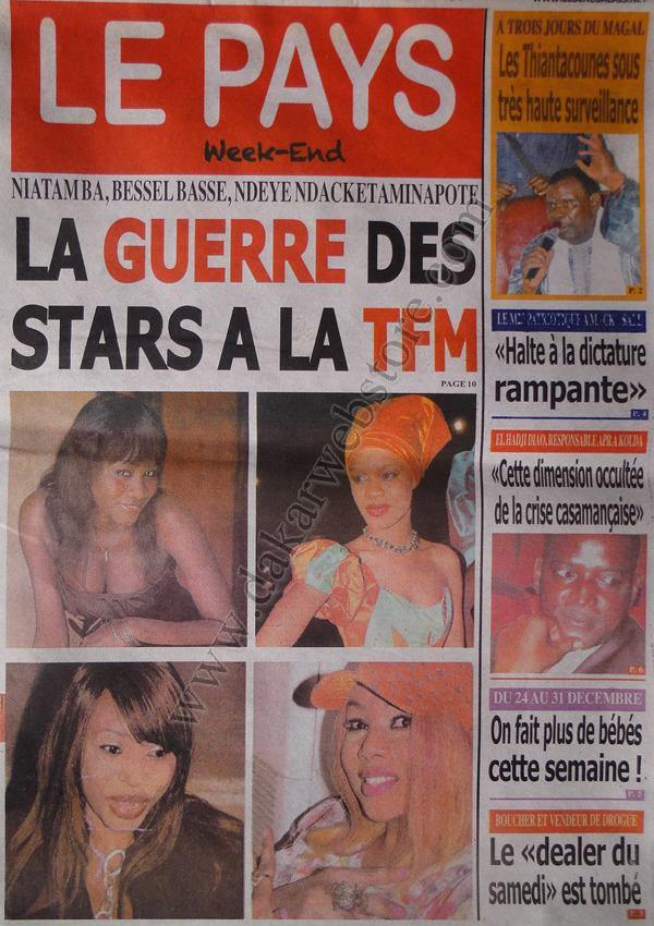 A la Une du Journal Le Pays du Samedi 29 décembre 2012