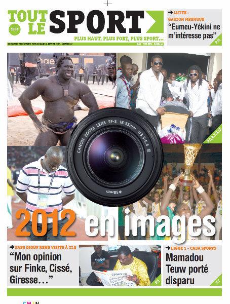 A la Une du Journal Tout Le Sport du Samedi 29 décembre 2012