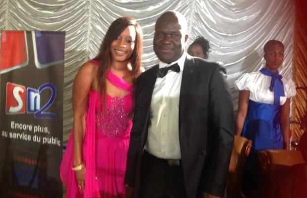 Aida Samb en compagnie du Président du Fogeca