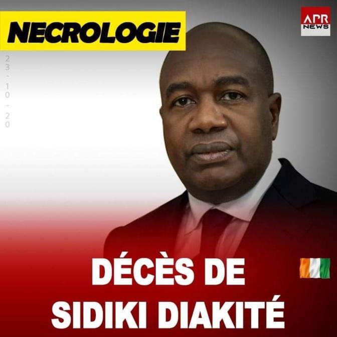 Nécrologie - Côte d'Ivoire: Le ministre de l'Intérieur Sidiki Diakité est mort