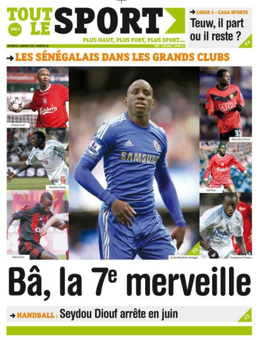 A la Une du Journal Tout Le Sport du vendredi 04 janvier 2013