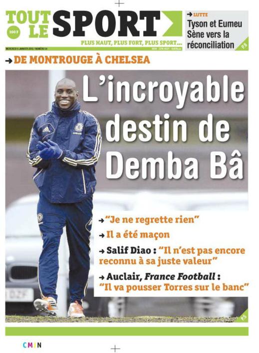 A la Une du Journal Tout Le Sport du mercredi 09 janvier 2013