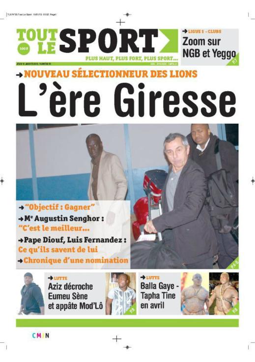 A la Une du Journal Tout le Sport du jeudi 10 janvier 2013