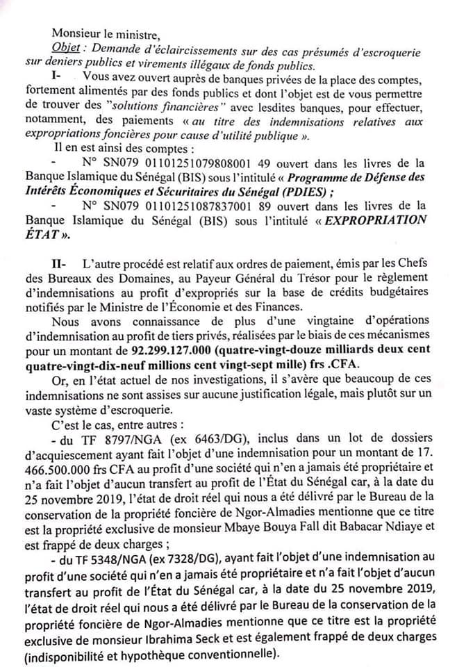 Questions écrites d'Ousmane Sonko à l'Assemblée nationale: Le leader du Pastef reformule les 94 milliards de FCfa, accusés à Mamour Diallo pour sauver sa tête