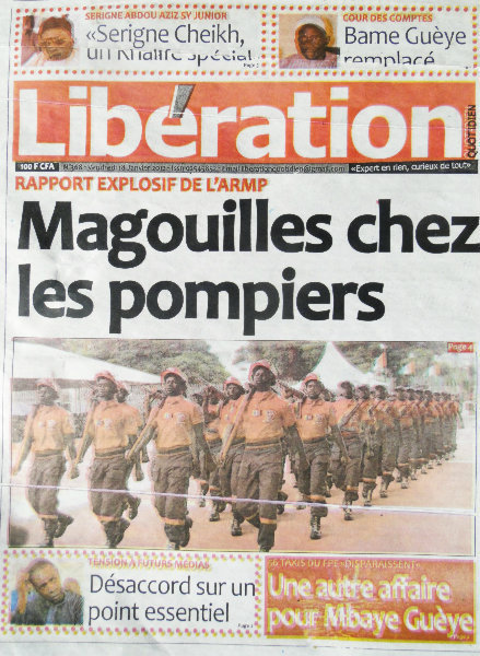 A la Une du Journal Libération du vendredi 18 janvier 2013