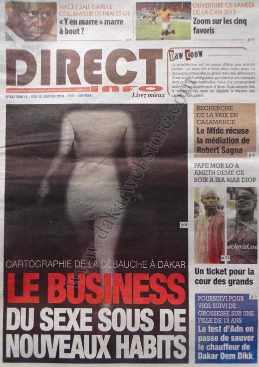 A la Une du Journal Direct Info du Samedi 19 janvier 2013