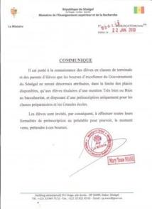 Enseignement supérieur : Mary Teuw Niane redéfinit les conditions d'obtention des bourses d'excellence du gouvernement du Sénégal
