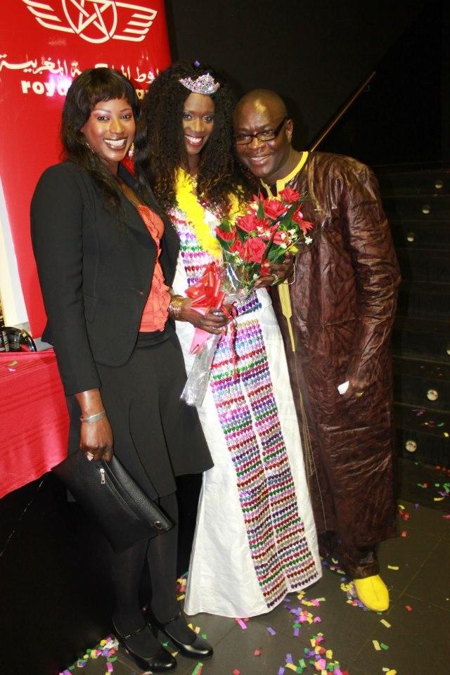 Miss Sénégal Espagne 2013 et Abdalah Cissokho l'organisateur