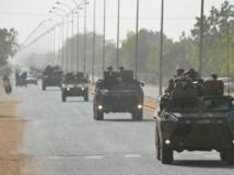 La progression des troupes françaises au nord du Mali