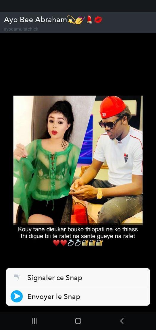 """La future femme de Omaro se dévoile en mode jongué sur snap : """" Kouy outeu Dieukeur na rafete té sante Gueye"""""""
