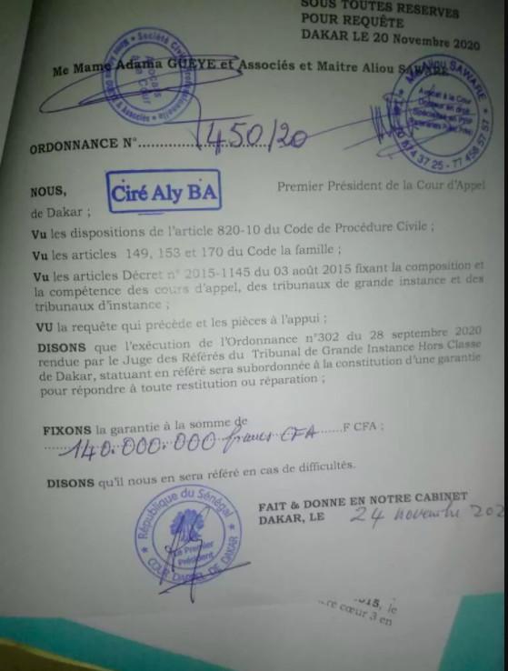 Affaire Diop Iseg: Aïssatou Seydi contrainte à verser 140 millions FCfa