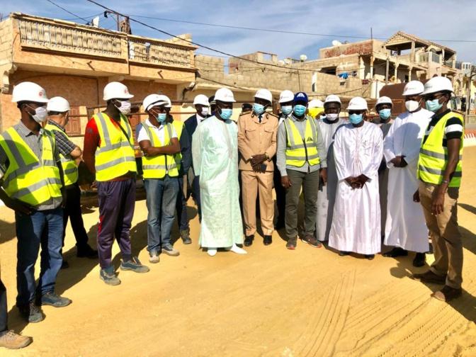 Saint-Louis: Visite de chantier du PPCS, Oumar Guèye constate avec satisfaction l'avancement des travaux