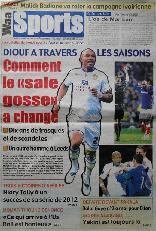 A la Une du Journal Waa Sports du mardi 12 février 2013
