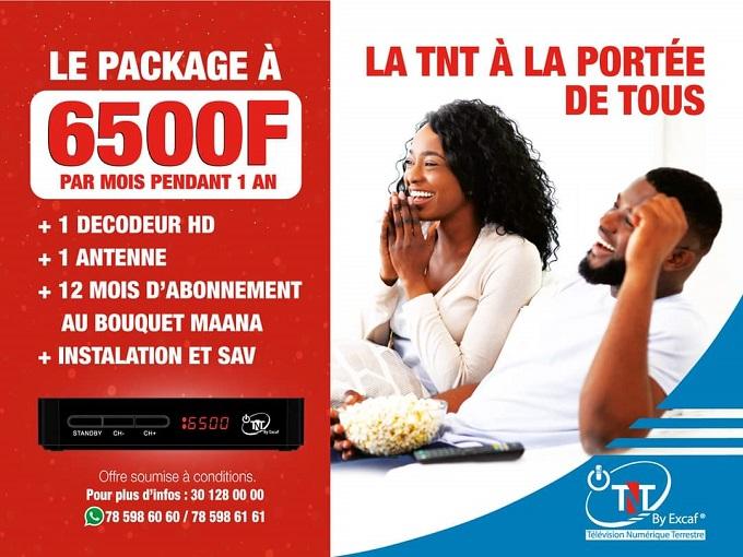 La TNT désormais à la portée de tous : Excaf ramène le package à 6 500 F FCFA par mois
