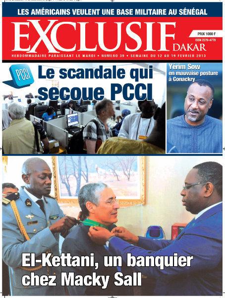 A la Une du Journal Exclusif du mercredi 12 février 2013