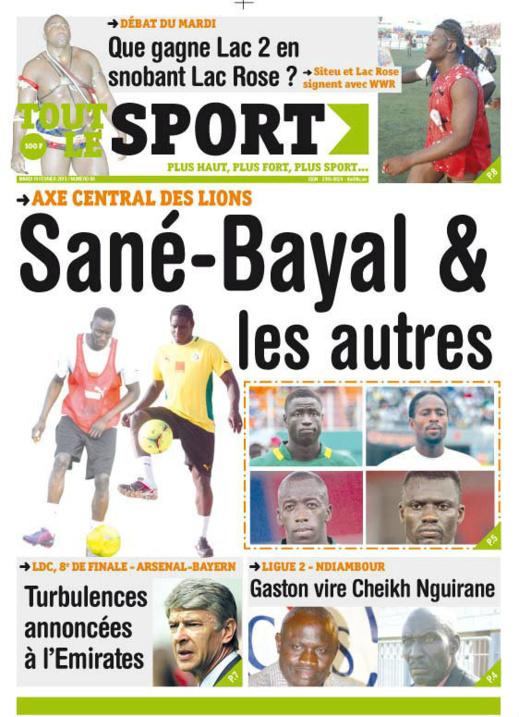 A la Une du Journal Tout Le Sport du mardi 19 février 2013