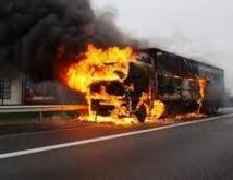 Incendie d'un camion de la SODEFITEX a Kolda, 16 enfants gravement brûlés