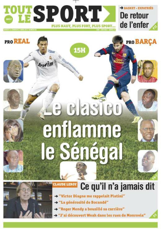 A la Une du Journal Tout Les Sport du Samedi 02 mars 2013