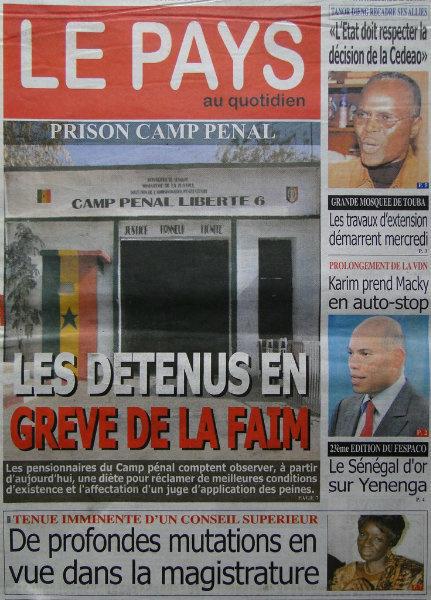 A la une du journal Le Pays du lundi 04 mars 2013