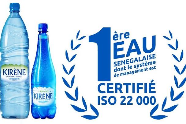 Une première dans l'eau minérale au Sénégal: Kirène obtient la certification Iso 22 000