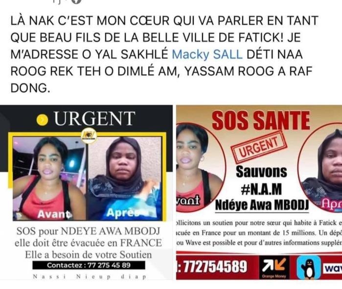 Prise en charge de près de 20 millions FCFA: Marième Faye Sall fait évacuer Ndeye Awa Mbodji en Tunisie