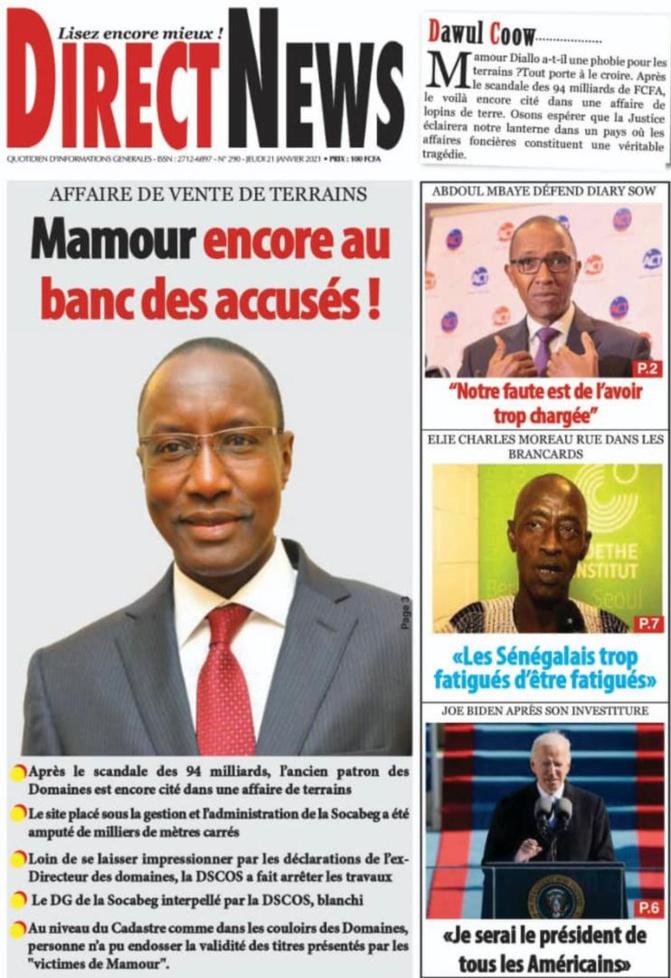Blanchi de l'affaire des 94 milliards FCfa: Mamour Diallo, ex-DG des Domaines, cible de ses adversaires politiques