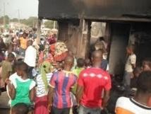 Un violent incendie ravage le marché central de Rufisque