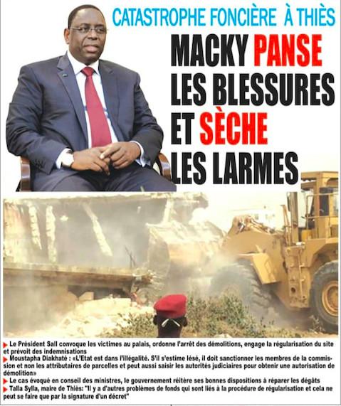 Colère des habitants de Mbour 4: Macky Sall calme les ardeurs et promet de réparer les dégâts des...