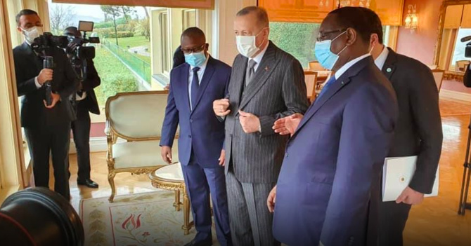 Turquie : Coïncidence ou désir du Sultan Erdogan, Macky Sall et Umaru Embalo se retrouvent au Palais Blanc
