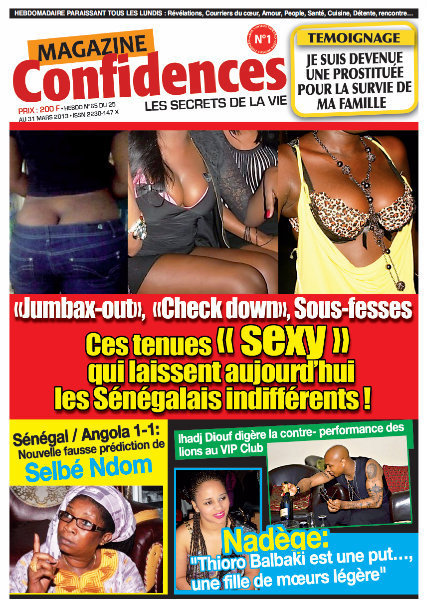 A la Une du Journal Confidences du jeudi 28 mars 2013