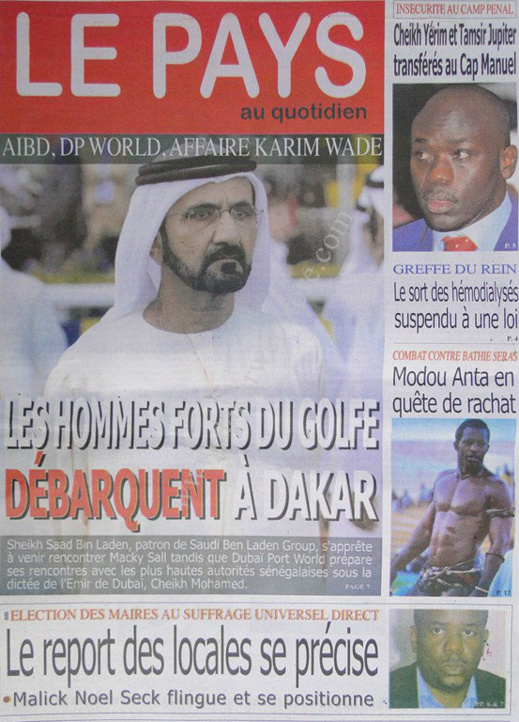 A la Une du Journal Le Pays du jeudi 28 mars 2013
