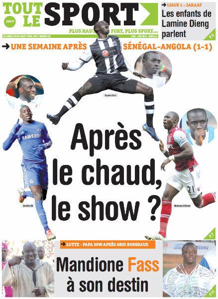 A la Une du journal Tout Le Sport du Samedi 30 mars 2013