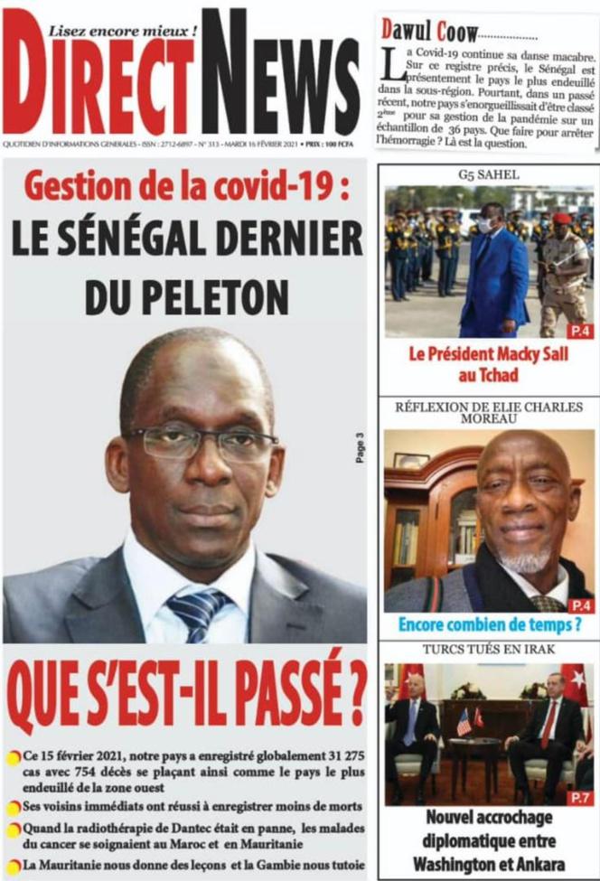 """Traitement tendancieux de l'information: Pape Diogoye Faye de """"Direct News"""" s'acharne sur Diouf Sarr"""