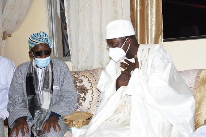 Kaolack / Décès de Serigne Mansour Mamoune Niass: Oumar Guèye a présenté les condoléances du Chef de l'Etat et de son gouvernement