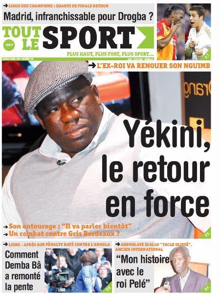 A la Une du Journal Tout Le Sport du mardi 09 Avril 2013