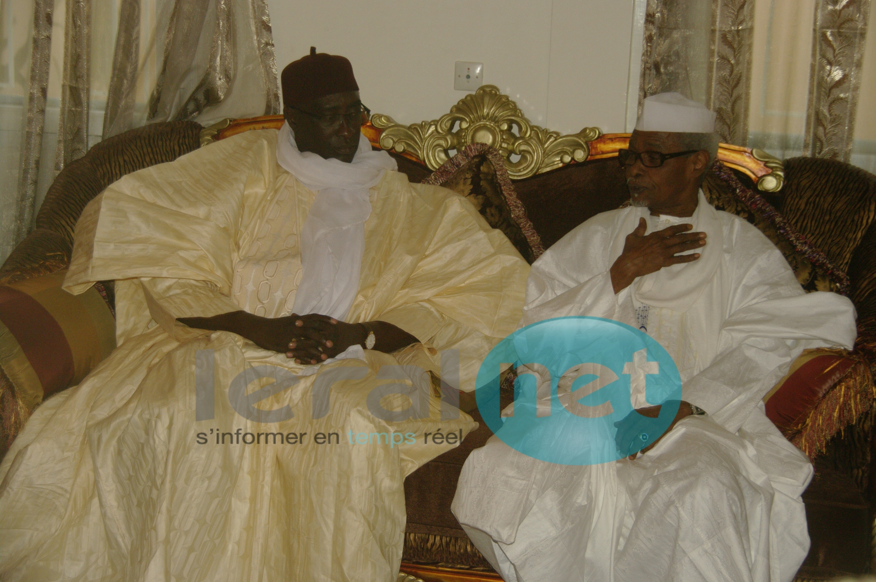 [Photos] Habré présente ses condoléances à la famille de Serigne Bassirou Diagne