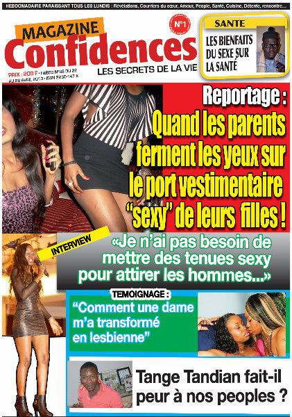 A la Une du Journal Confidences du samedi 27 Avril 2013