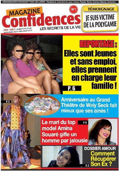 A la Une du Journal Confidences du vendredi 03 Mai 2013