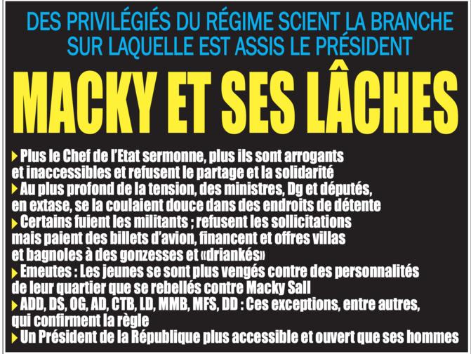 Régime de Macky Sall: Un Président victime d'ingratitude de la part de ses protégés